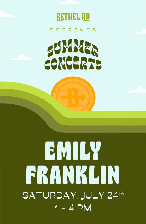 image for Bethel Rd. Summer Concerts : Emily Franklin